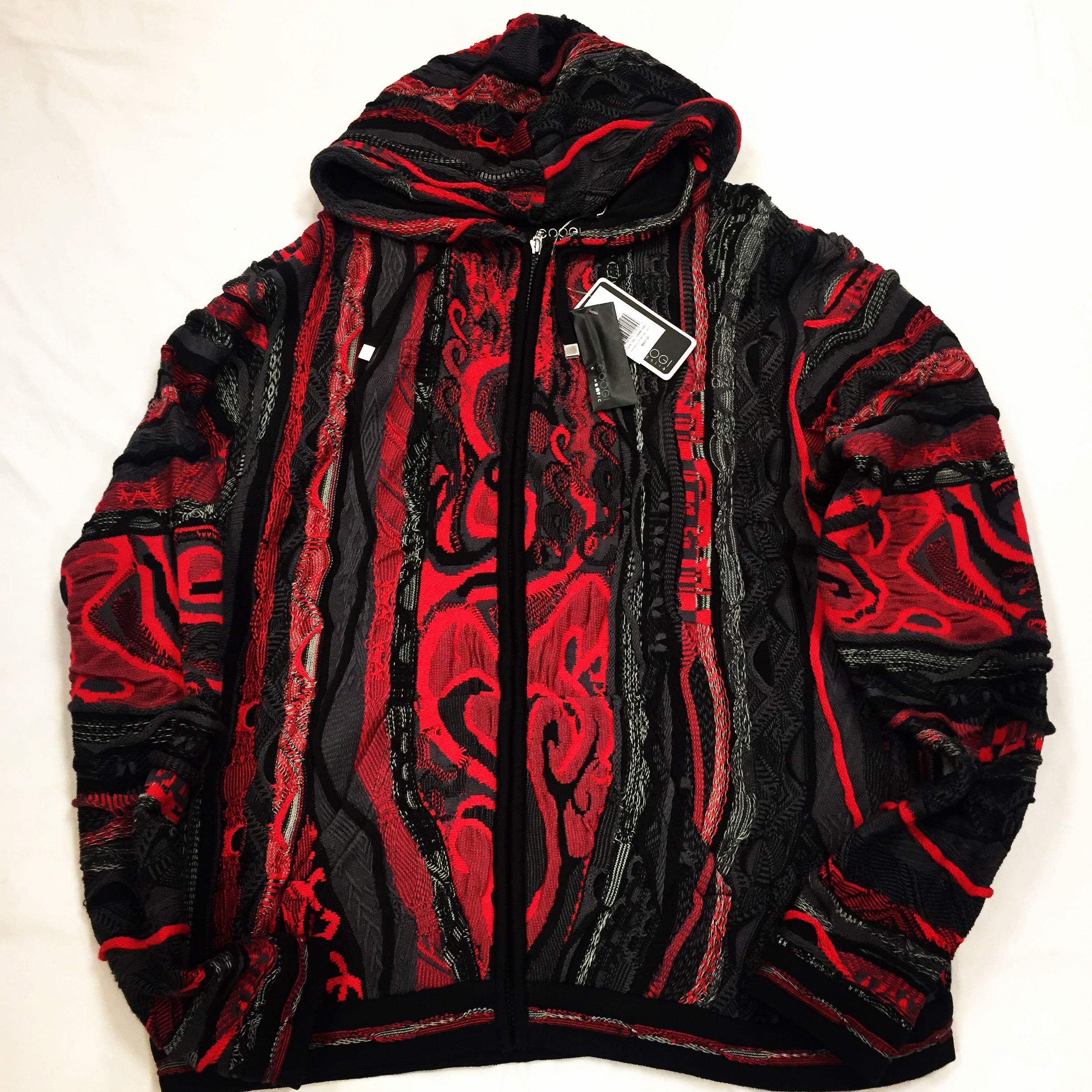 Coogi Black Red Sweater
